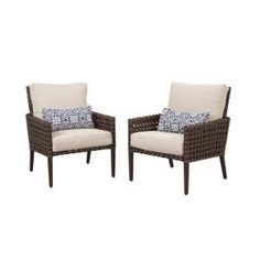 Hampton Bay, Raynham Patio Lounge Chair (2-Pack), DY12091-L at The Home Depot - Tablet