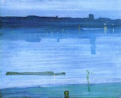 Nocturne, Blue and Silver: Chelsea, James McNeill Whistler Medium: oil,wood James Mcneill Whistler, Nocturne, Chelsea James, Camille Pissarro, Oil Painting Reproductions, Art Abstrait, Paris, American Artists, Impressionism