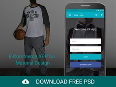 FREEBIE PSD: E-Commerce APP for Material Design by Buğra Dere