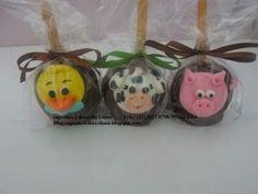 Cupcakes e Doces da Liana: maçã do amor fazendinha
