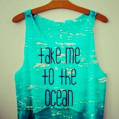 "Omg yes, but I wish it said ""take me to the beach-each let's go get away!"" @Emily Schoenfeld Elliott Cute Tops, Teen Beach Outfit, Beach Outfits, Adore Me Swimwear, Bathing Suits For Teens, Cute Teen Bathing Suits, Waves Texture, Teen Swimsuits, Mint Top"