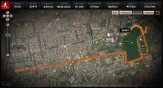 Minha primeira meia maratona... 21k era uma meta!!! FELIZ!!