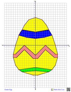 Easter Egg - Four Quadrant Graphing Worksheet