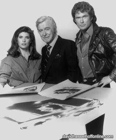 Bonnie Barstow, Devon Miles, and Michael Knight #KnightRider