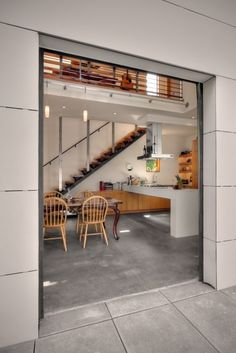 love the door, warm colors with the cool, concrete floors. I'm moving in!