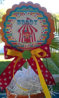 Carnival Circus Centerpiece Customized by ThePolkaDotPrince, $12.00
