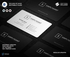 Simple Professional Business Cards by Galaxiya Create Business Cards, Minimal Business Card, Cool Business Cards, Professional Business Cards, Business Brochure, Business Card Design, Creative Business, Bussiness Card, Envato Elements