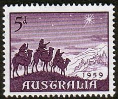 Australia 1959 SG 333 Christmas Fine Mint SG 333 Scott 334 Other Australian Stamps here