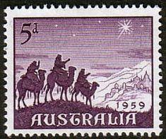 Australia 1959 SG 333 Christmas Fine Mint SG 333 Scott 334 Other Australian Stamps here