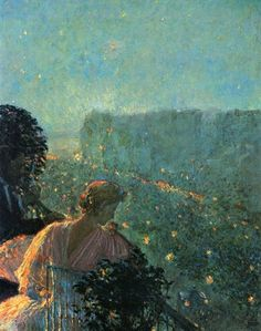 Frederick Childe Hassam ( 1859-1935 ) 'Summer Evening, Paris' 1889