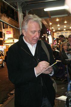Alan Rickman • 2012 | NYC | photo by anglophile68
