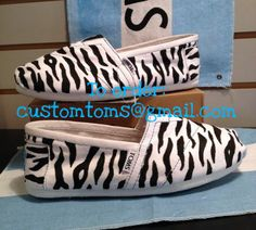Custom Zebra Print TOMS shoes