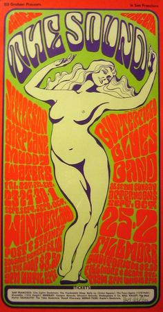 Jefferson Airplane, Muddy Waters, Butterfield Blues Band - 1966 by Wes Wilson