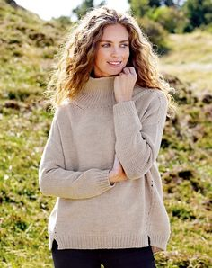 Knitting yarn merino wool light sand mix - Stoff & Stil