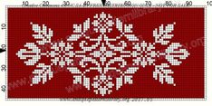 Gallery.ru / Фото #161 - Le Filet Ancien au Point de Reprise VII - gabbach Cross Stitch Art, Cross Stitch Borders, Cross Stitch Designs, Cross Stitch Embroidery, Cross Stitch Patterns, Embroidery Patterns Free, Knitting Patterns Free, Crochet Chart, Black White