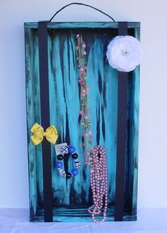 Handmade Jewelry Holder and Hair Bow Holder  Hand by CraZyDreamZ, $30.00