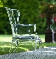 Lucite armchair via greige: interior design ideas and inspiration for the transitional home