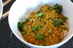 This coconut red lentil dahl is very easy to make with everyday pantry ingredients and makes for an incredibly satisfying and comforting meal. Indian Food Recipes, Asian Recipes, Whole Food Recipes, Cooking Recipes, Healthy Recipes, Bulk Cooking, Lentil Dahl, Vegetarian Lifestyle, Wheat Free Recipes