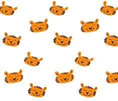 Tigers fabric by taraput on Spoonflower - custom fabric
