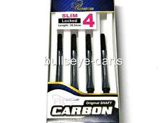 Shafts 117102: Cosmo Carbon Dart Shafts Size #4 (28.5Mm) Locked Non-Spinning Slim Pearl Black BUY IT NOW ONLY: $43.43