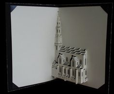Westerchurch/Tower - The church with the tallest tower of Amsterdam!  Three-dimensional | Sculpture | Paper by Ingrid Siliakus