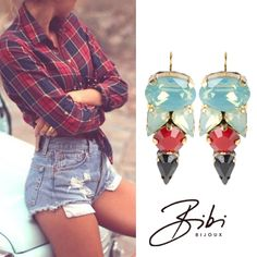 Cute fashion earrings by Bibi Bijoux. Nice for a wedding, party or daily use! Ss 15, Cute Fashion, 20 Years, Summer Collection, Fashion Earrings, Product Launch, Lily, Inspiration, Rose