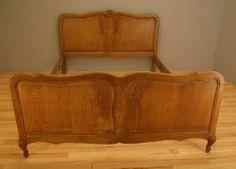 !! VINTAGE DOUBLE FRENCH GOLDEN OAK BED IN LOUIS XV STYLE 928 !!! | eBay Oak Beds, Golden Oak, Hope Chest, Storage Chest, French, Vintage, Ebay, Home Decor, Style