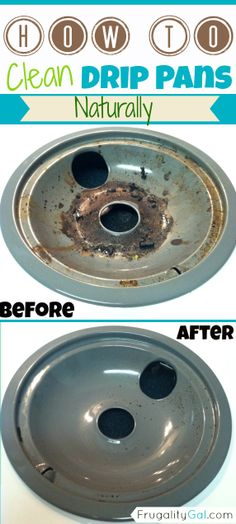 Frugality Gal: How to Clean Drip Pans Naturally