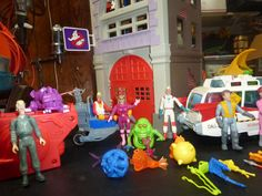 VINTAGE Action Figures, The Real Ghostbusters Toys, Fire Station Headquarters, Ghosts, Equipment, Figures, & Vehicles. 1980s, Extreme Ghosts by FriendsRetro on Etsy