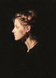 Kristen Stewart braided hair