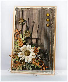 """Dzisiaj w Diabelskim Młynie rusza nowe wyzwanie , którego tematem jest """"Drewno"""" Ja przygotowałam jesienną kartkę, w której wykorzystałam ..."""