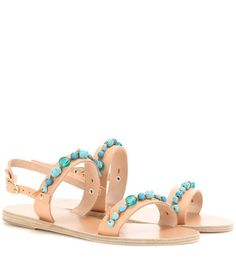 Ancient Greek Sandals Clio Stones Leather Sandals | MYTHERESA USA saved by #ShoppingIS