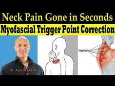 Neck Pain Gone in Seconds (Self-Help Myofascial Trigger Point Correction. Shoulder Pain Relief, Neck Pain Relief, Neck And Shoulder Pain, Neck And Back Pain, Headache Relief, Neck And Shoulder Exercises, Neck Exercises, Stretching Exercises, Natural Remedies