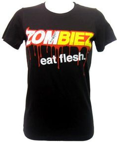 Goodie Two Sleeves Eat Flesh Girls T-Shirt | Gothic Clothing | Emo clo...