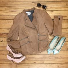Shop Buffalo Exchange Chelsea! Coach heels $50, Coach flats $38, Ray-Ban shades with case $40, Haute Hippie moto jacket $125
