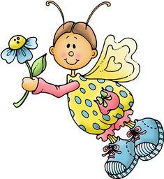 Láminas Infantiles y para Adolescentes (pág. 141) | Aprender manualidades es facilisimo.com Digi Známky, Betty Boop, Pěkné Kresby, Vlastnoruční Výroba, Vitráže, Appliques, Víly, Draw, Kreativní