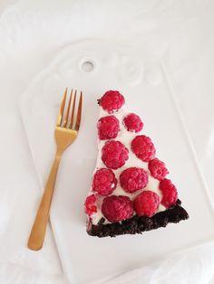 Nepečená torta s maliinami