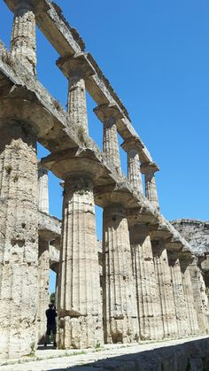Tempio di di Nettuno o di Zeus o di Apollo.  Paestum. 450 a.C.