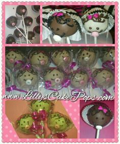 Girl baby shower cake pops...you can easily do them for a boy baby shower too