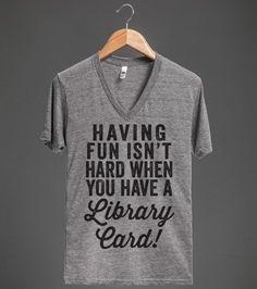 Having Fun Isn't Hard   V-Neck T-shirt   Skreened