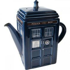Doctor Who Tardis Teapot   Drink tea like Dr Who would want you to $47.90