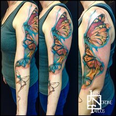 Watercolor Butterflies by Justin Nordine Tattoos