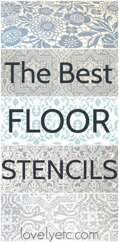 The Absolute Best Floor Stencils and Tips for a Perfectly Stenciled Floor - Lovely Etc. - These are the best floor stencils out there for stenciling wood, tile, or vinyl floors. Plus tips for stenciling your floors to get the best results. Painted Bathroom Floors, Stenciled Tile Floor, Bathroom Stencil, Vinyl Flooring Bathroom, Painted Vinyl Floors, Stencil Wood, Floor Stencil, Tile Stencils, Master Bathroom