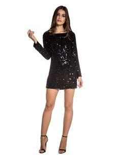Vestido Cleia Paete Preto - loft747