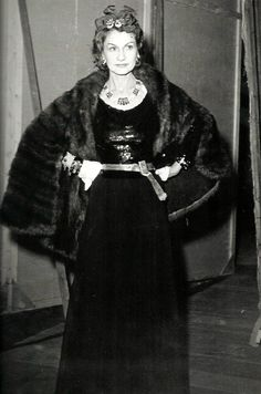 08eeddedfaf9 Gabrielle Chanel at age 53 at on the opening night of Marcel Achard s play