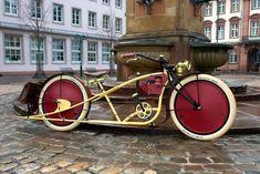 Bild Velo Beach Cruiser, Cruiser Bicycle, Motorized Bicycle, Bicycle Art, Beach Cruisers, Bicycle Shop, Cool Bicycles, Vintage Bicycles, Cool Bikes