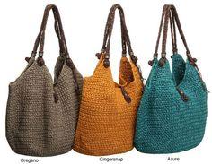 <li>Add a new element to your wardrobe with a crocheted tote bag</li><li>Women's accessory features crocheted design worked in two strands of bedspread-weight thread</li><li>Large handbag has three interior pockets</li>