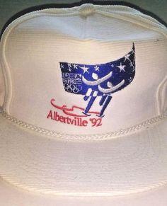 ALBERTVILLE 92 Winter Olympics USA Baseball Cap HAT Strapback Corduroy White | Sports Mem, Cards & Fan Shop, Fan Apparel & Souvenirs, Olympics | eBay!