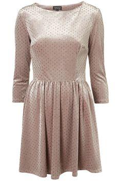 Glitter Spot Velvet Dress. Fabric: 92% Polyester,8% Elastane. (cms). | eBay!