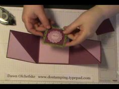video Triangle Tri-Fold Card also see this pdf… Card Making Tips, Card Making Tutorials, Card Making Techniques, Making Ideas, Tri Fold Cards, Fancy Fold Cards, Folded Cards, Greeting Card Video, Scrapbooking